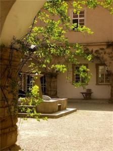 Arkadenhof im Barockschloss Zeilitzheim