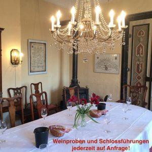 Weinprobe im Schloss Zeilitzheim
