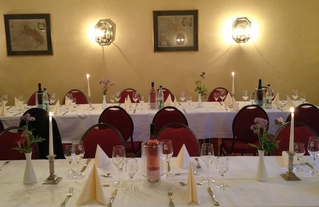 Abendimbiss im Petrinisaal von Schloss Zeilitzheim