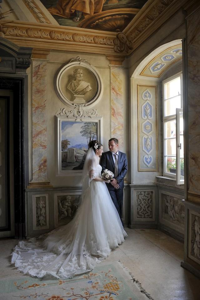 Brautpaar im Freskensaal Schloss Zeilitzheim Foto Denis Meyer. Foto: dm photography [Denis Meyer]
